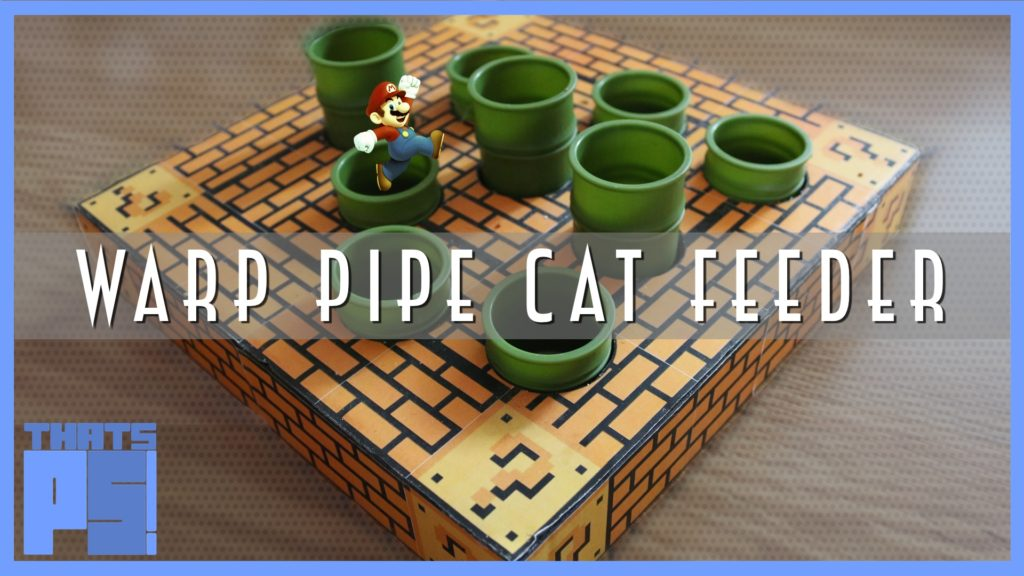 Warp Pipe Cat Feeder