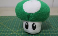 DIY 1up Mushroom Plush